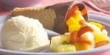 Casquinha com salada de frutas